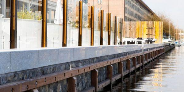 Prefab Kademuur Kadeschort beton Zeeburgerkade Amsterdam
